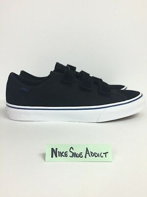 31464e52555da1 Vans Style 23 V Suede Canvas Prison Issue Black White Blue VN0A38GC5OB Vault