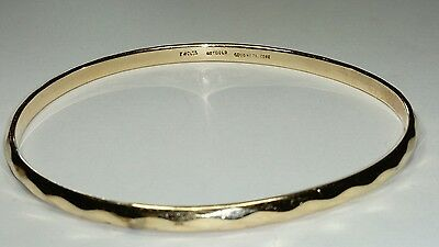 HALLMARKED 9CT YELLOW GOLD SOLID METAL CORE SLAVE BANGLE, MELT & ASSAY 19.9g