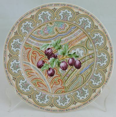 Vintage Limoges Small Plate Leaves & Berries Chamarande Patrick Frey