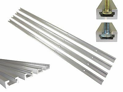 "Lot 4 T Track 48"" Aluminum 3/4"" x 3/8"" for 1/4"" & 5/16"" T Bolts & 1/4"" Hex Bolts"