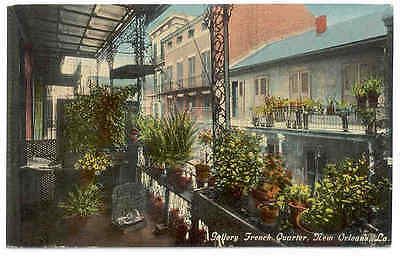 LOUISIANA New Orleans French Quarter Gallery 1910 LA postcard
