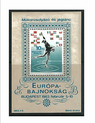Hungary 1963 Figure Skating Mini Sheet MUH