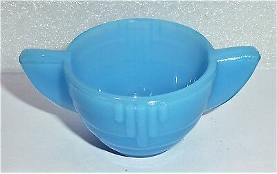 Akro Agate Child Tea Set Stacked Disc Blue Sugar