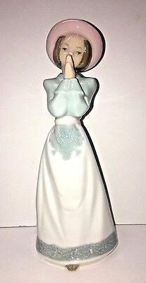 """please, Please"" Girl Praying  Porcelain Figurine Nao By Lladro #1224"