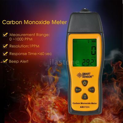 Carbon Monoxide Meter with CO Gas Tester Monitor Detector Gauge LCD 0-1000ppm