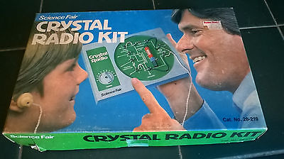 Vintage Science Fair Crystal Radio Kit !! In Box With Manual !! Nice !!