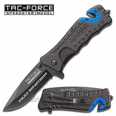 Tac-Force Spring Assisted Police High Carbon Steel folding knife