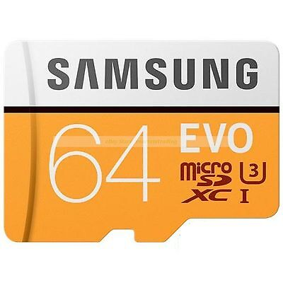 Samsung Micro SDXC 64GB EVO MicroSDXC 100MB/s Read Flash Memory Card New ct UK