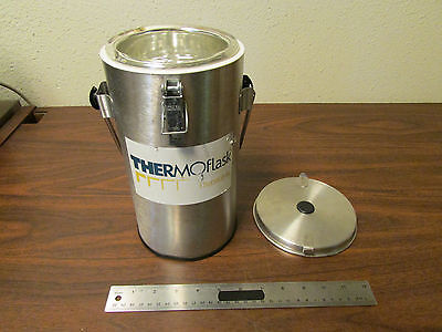 Thermolyne Thermoflask Dewar Flask Model 2123 With Handle And Lid