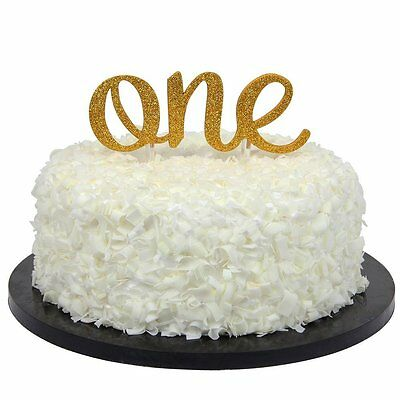 """Sweet Heart First Birthday Cake Topper -""""One""""- Decoration & First Birthday"""