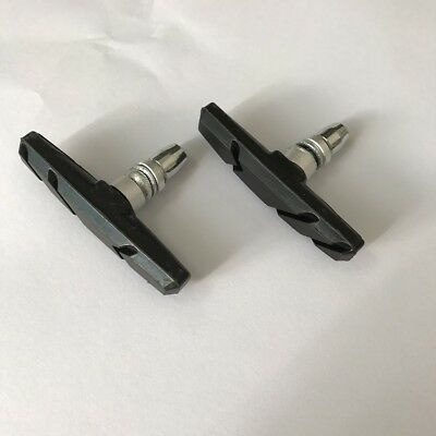 Black Mountain Bike Road Cycling Rubber V Brake Holder Shoes Pads Accessories*2