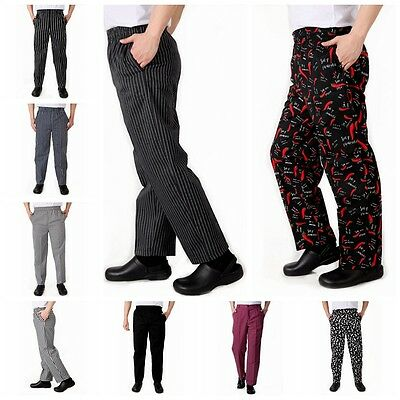 Fashion Chef Working Pants Totel Restaurant Elastic Work Comfy Cook Trousers