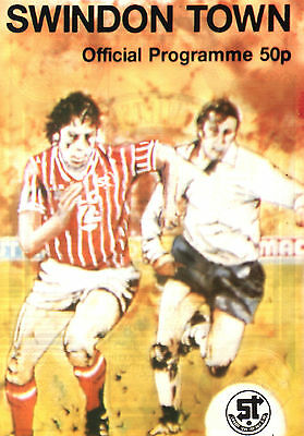 1985/86 Swindon Town v Sunderland, League Cup,  PERFECT CONDITION