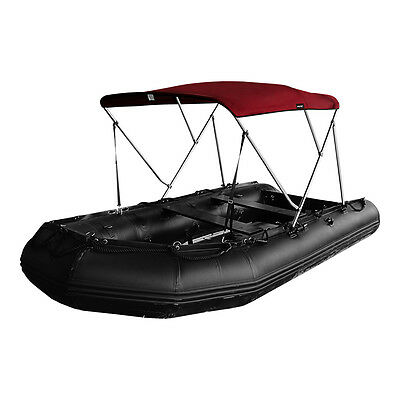 600D Polyester Canvas Color Burgundy,2 Bow,3 Bow Bimini Top for Inflatable Boat