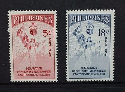 PHILIPPINES 1954 Independence Commemoration. Set of 2. Mint HINGED. SG771/772.