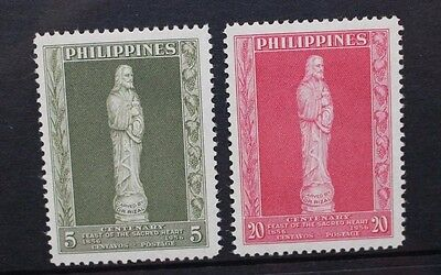PHILIPPINES 1958 Eucharist Congress. Set of 2. Mint Never Hinged. SG793/794.