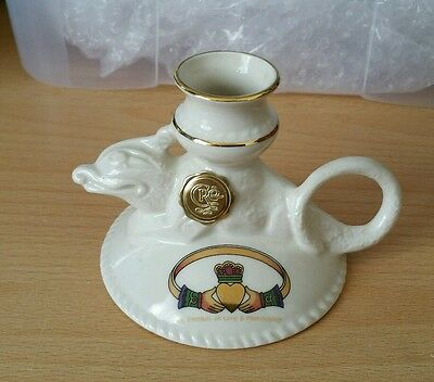 CRE Irish Porcelain Galway love and friendship candle holder signed