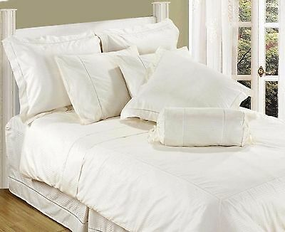 Double Or King Size 330 Thread Count Stripe Sateen Luxury Fitted / Duvet Covers