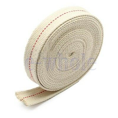 "1/2"" Flat Cotton Oil Lamp Wick 15foot Roll For Oil Lamps and Lanterns TW"