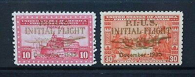 PHILIPPINES 1935 Air China Cliiper Overprint. Set of 2. Mint HINGED. SG488/489.