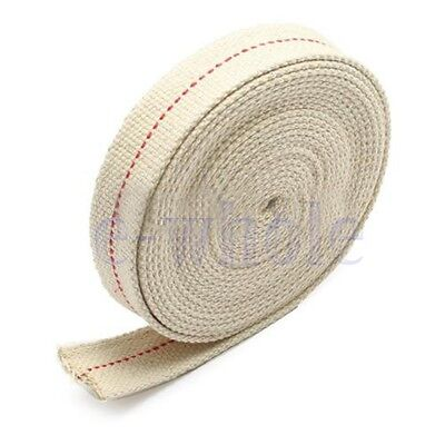 "7/8"" 2.2cm Flat Cotton Wick 15 foot roll Oil Lamp Wick and Lanterns Wick New TW"