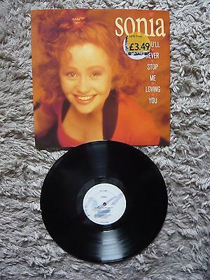 """Sonia You'll Never Stop Me From Loving You UK PWL 12"""" Vinyl Single S.A.W. SAW"""
