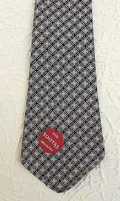 Men's check tie PURE COTTON Short Tootal tie vintage 1950s UNUSED RED QUALITY