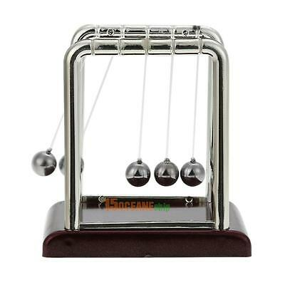 Newton's Balance Steel Ball Cradle Kinetics Science Pendulum Desk Toy Fun Gift