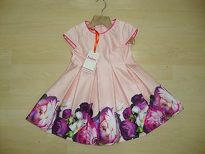 Beautiful Ted Baker Pink Floral Dress Age 18/24 Mnths Bnwt