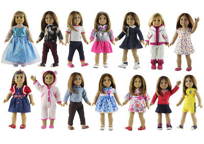 5 x New Style Doll Clothes FOR 18'' American Girl Handmade Princess Dress Outfit