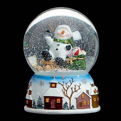 Premier Christmas 100mm Musical Snow Globe MO151339 - Snowman