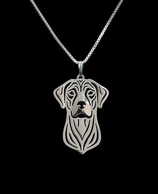Rhodesian Ridgeback Pendant Necklace Silver ANIMAL RESCUE DONATION