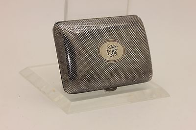 Antique Original Silver Ottoman  Written Niello Amazing Cigarette Case