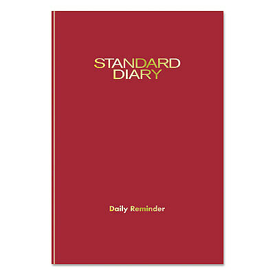 Standard Diary Recycled Daily Reminder, Red, 5 1/8 X 7 1/2, 2017-AAGSD38713