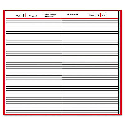 Standard Diary Daily Diary, Recycled, Red, 7 1/2 X 9 7/16, 2017-AAGSD37413