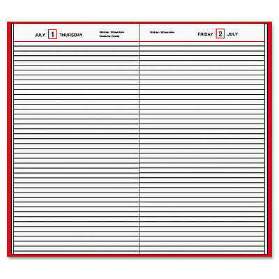 Standard Diary Daily Diary, Recycled, Red, 7 11/16 X 12 1/8, 2017-AAGSD37613