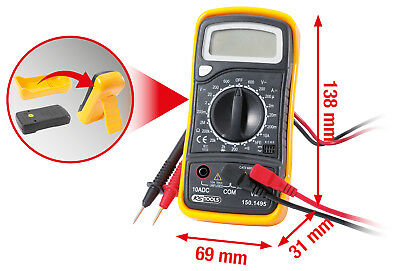 KS Tools Digital Multimeter inkl. Prüfspitzen LCD Display KFZ NFZ 150.1495