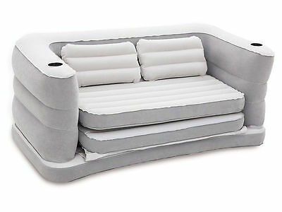 Bestway Inflatable Sofa Double Air Bed Mattress + Pillows Indoor Use + Camping