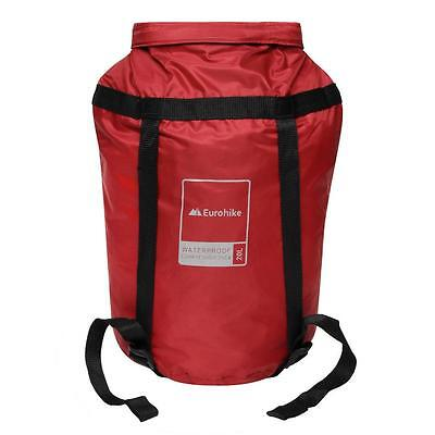 Eurohike 20 Litre Waterproof Compression Sack Camping Rucksacks Daysacks Red