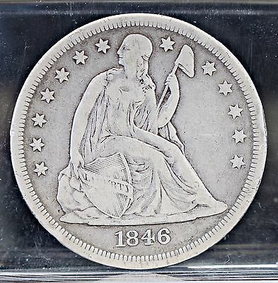 1846-O Liberty Seated Dollar - Fine Details (#7538)