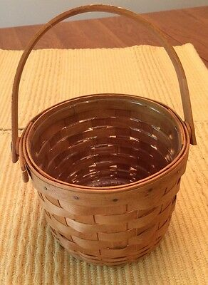 Longaberger 1994 Small Fruit Basket W Handle With Protector