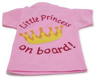Indigo LITTLE PRINCESS ON BOARD T SHIRT Bright Design For Window Car
