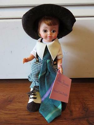 "Madame Alexander 1996 Collection ""dressed Like Daddy "" 8 Inch Doll On Stand"