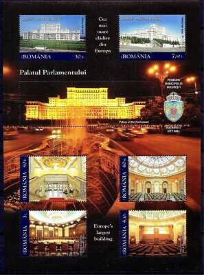 Romania 2011 Parliament Palace Guinness World Largest Civil Building m/s MNH