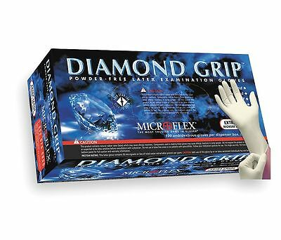 Microflex Diamond Grip Powder-Free Latex Examination Gloves 1000/Case S M L XL