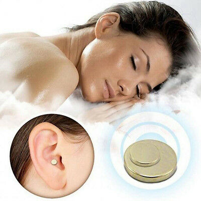 Gold Quit Stop Smoking Ear Magnet Cigarettes Magnetic ear Acupressure Zero Smoke