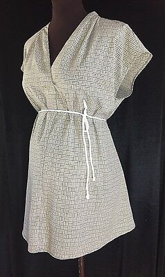 NEW Olive-green and White LIZ LANGE MATERNITY Plus Size XXL Summer Top With Belt