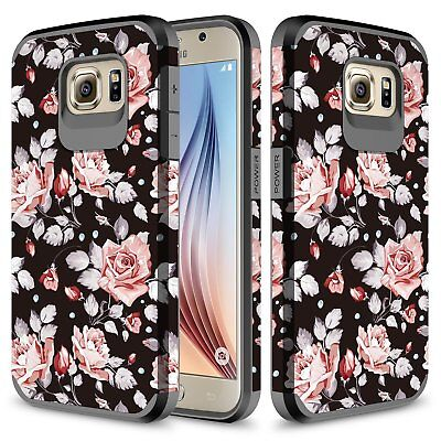 Samsung Galaxy S6 Case, Hard Impact Dual Layer Shockproof Bumper Case