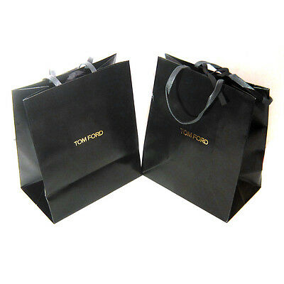 """Lot of 2 TOM FORD Glossy Paper Gift Shopping Bag 12"""" x 10"""" x 6"""""""