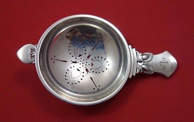 """Cactus by Georg Jensen Sterling Silver Tea Strainer Fancy Pcd with Cactus 4 7/8"""""""